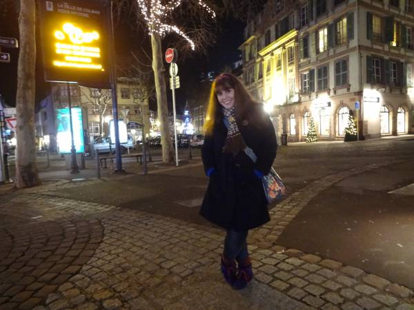 Colmar, Jan 4th, 2013 - Moccasins, Asos - Blue jumper, Primark - Scarf, Odd Molly
