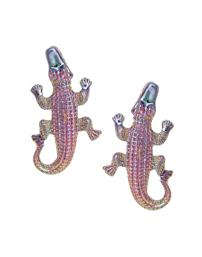 Asos collection alligator earrings, £6