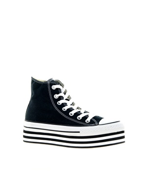 Converse All Star Black Platform High Top Trainers - £60, at Asos