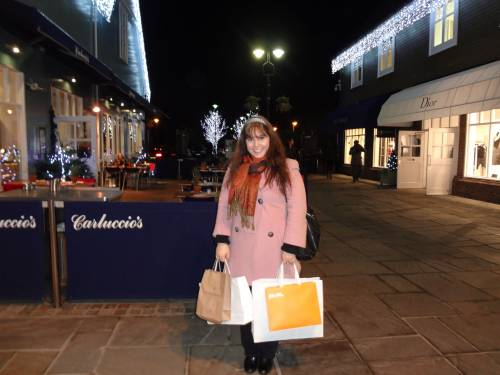 Strolling at Bicester Village with my friend Sophie! (November 2013)