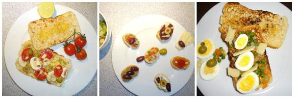 Bruschetta and canapes