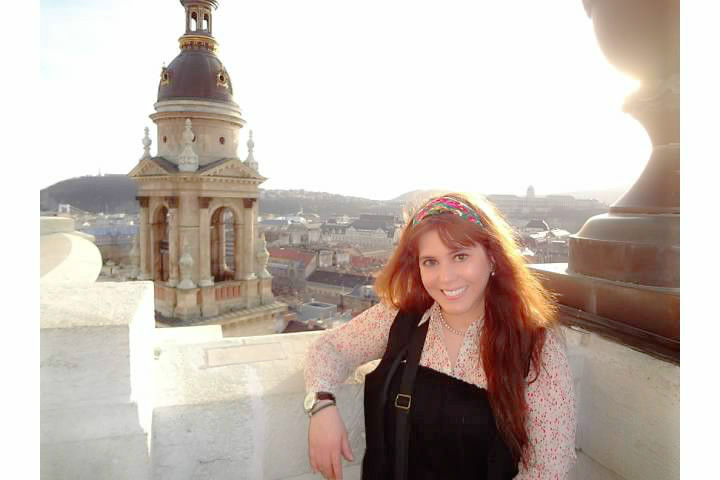 On the top of  St. Stephen's Basilica, it was windy, but phenomenal