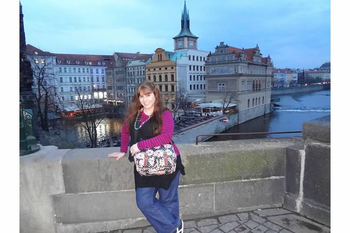 Charle's bridge and the river Vltava in Prague, Czech Republic, March 22nd, 2014