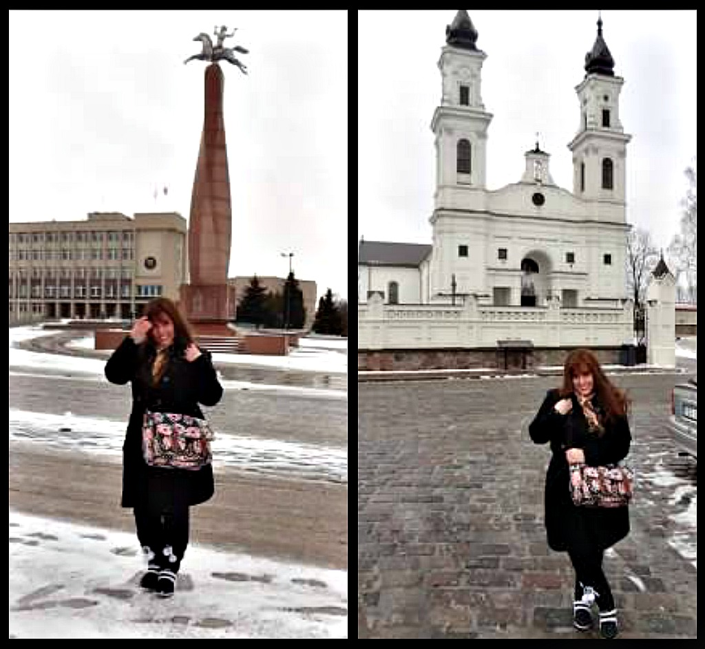 It was snowing in Marijampole, the 3rd biggest city in Lithuania. So beautiful!    Church St. Michael's  Basilica