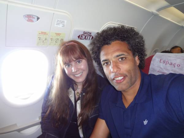 Sorry for the lack of makeup... I had a 12 hour-flight! With Pierre Van Hooijdonk
