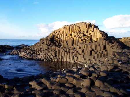 Giant's Causeway basalt formation