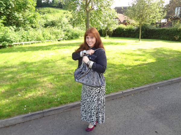 This dress is loved by everybody! The bag I bought in London and the shoes are simple M & S