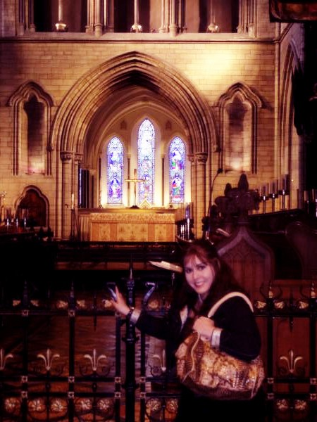 I went to St Patrick's cathedral again. Many places in Dublin I have gone before, but now living there I saw things in  a different way