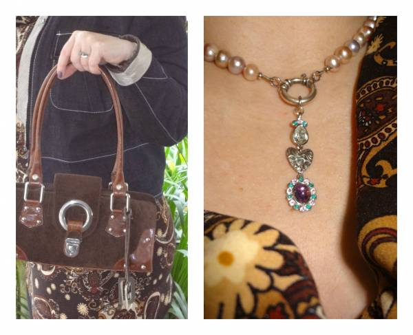 Swarovski pendant and Dolce & Gabbana bag