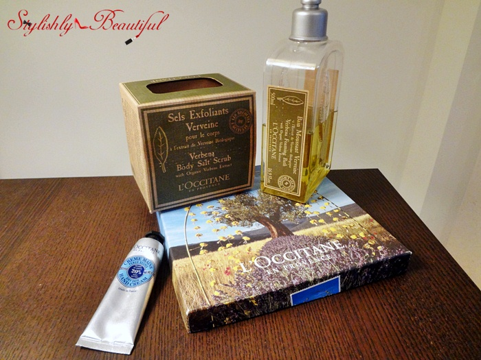 L'Occitane shower gel and hand cream set review here