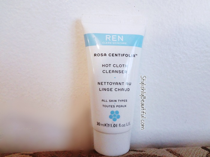 REN Rosa Centifolia Hot Cloth Cleanser review here
