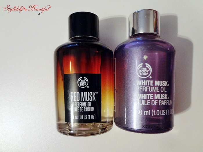 Red and White Musk perfume oils -  The Body Shop‏ - review | here