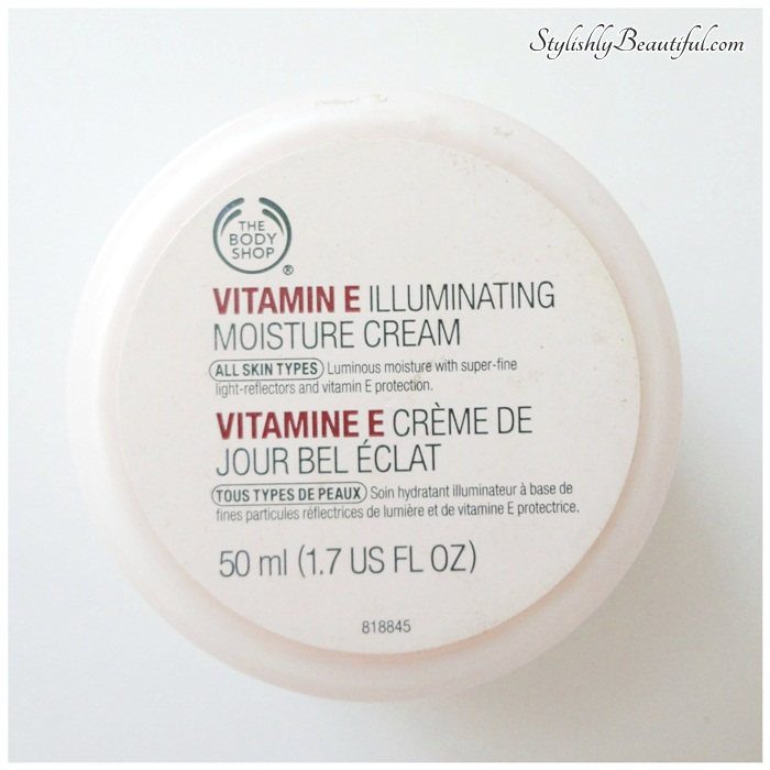 The Body Shop vitamin E illuminating moisture cream review here