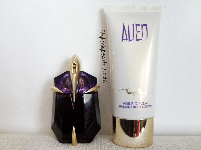 Thierry Mugler Alien perfume and body lotion review here