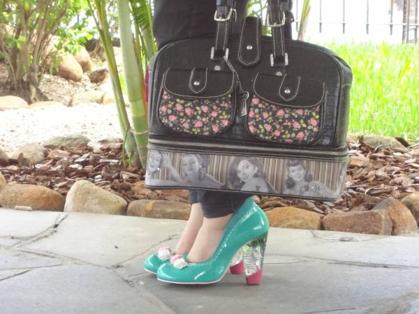 I love these Irregular Choice shoes, with perspex heels!