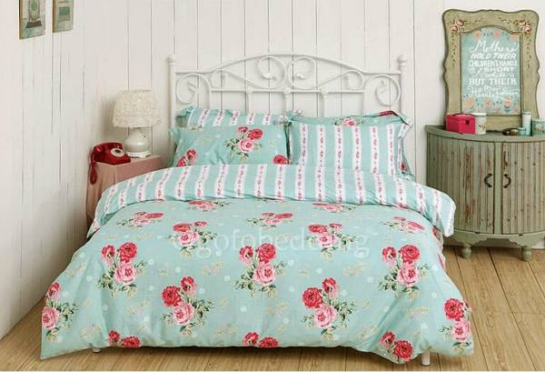 Light Teal Floral Pretty Simple High End