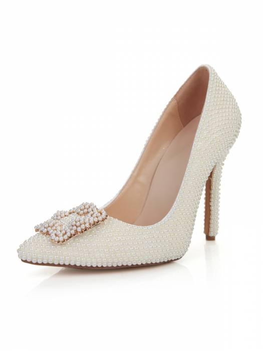 Dylan Queen pointy toe high heels, with embellished buckle