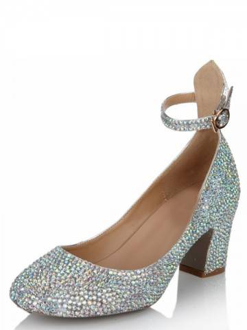 Mid heeled embellished--shoes