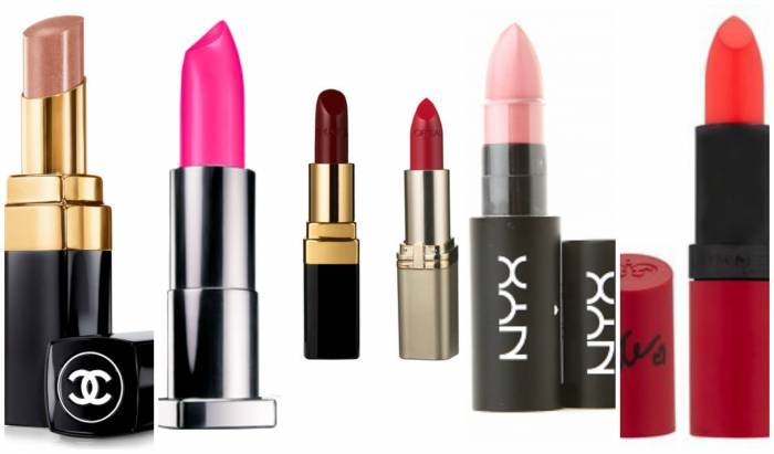 Most used lipsticks in some cities around the world