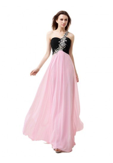 Scoop Short Sweep/Brush Train Pink Prom Dresses UK