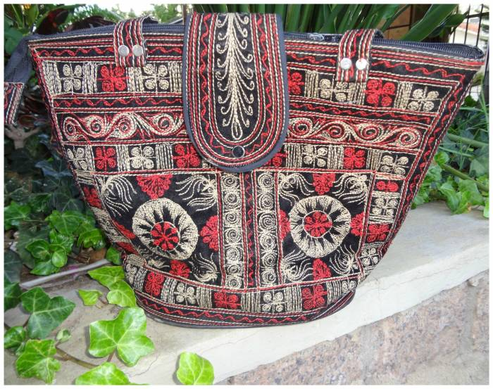 Embroidered bag from Indonesia