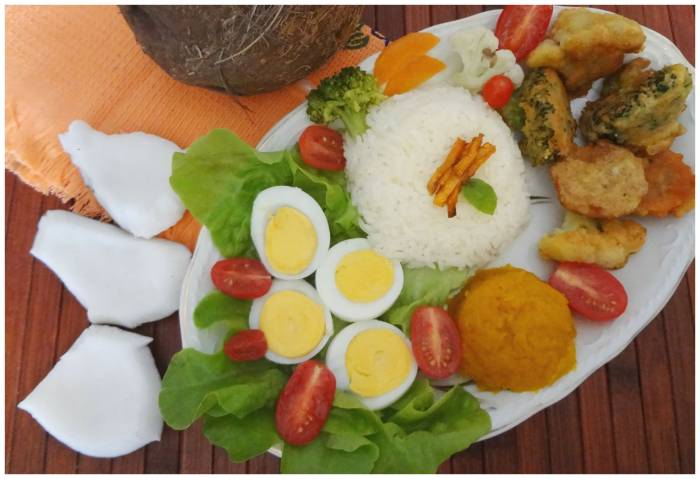 My take on Nasi campur from Indonesia