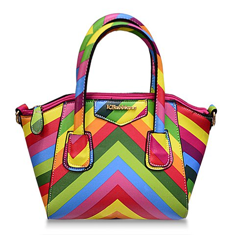 Pretty Women's Tote Bag With Color Matching and PU Leather Design