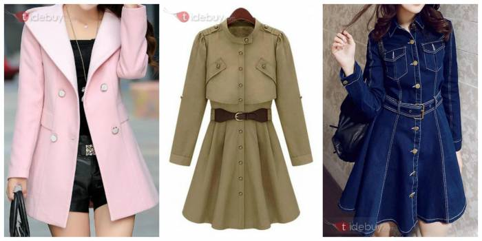 Splendid Single Breasted Belt Trench Coat Chic Button Hooded Trench Coat and New Style Denim Trench Coat