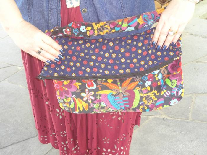 Bag, my design with fabrics bought in Ljubljana