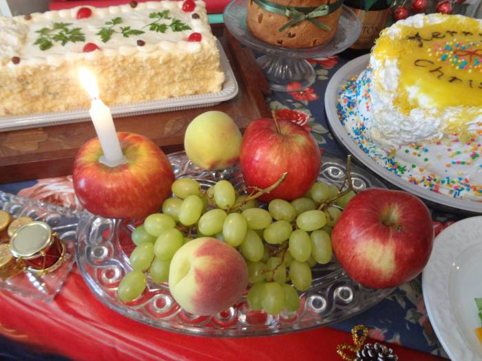 "Easy ""Last Minute"" idea - a candle on an apple!"
