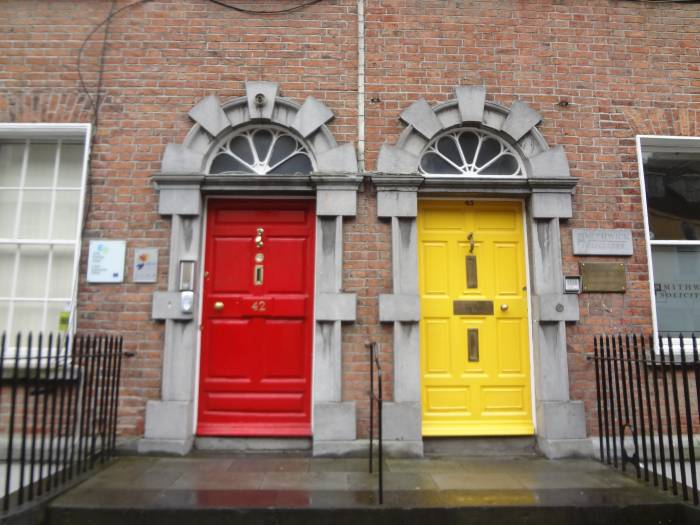 Famous Dublin doors, but these ones I found in Kilkenny!
