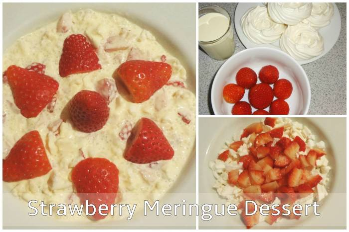 Strawberry Meringue Dessert