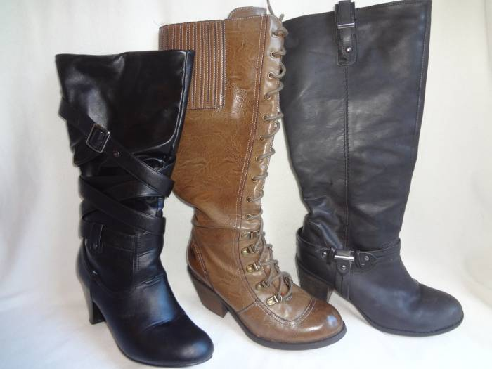 Boots, from left to right: Peacock, Rocket Dog and Next