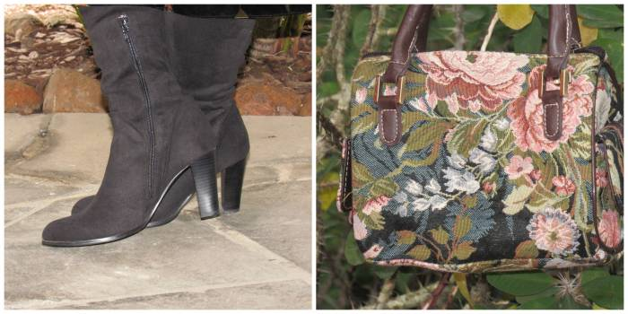 Simple black boots, from I'm walking; Bag, oought in Barcelona