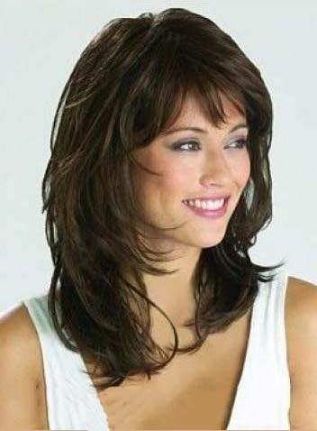 Graceful Medium Wavy Natural Brown 14 Inches Synthetic Wig