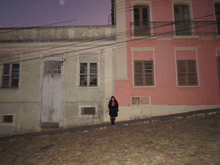 I loved this picture, too, with the colorful houses and it seems it's the moon up there,
