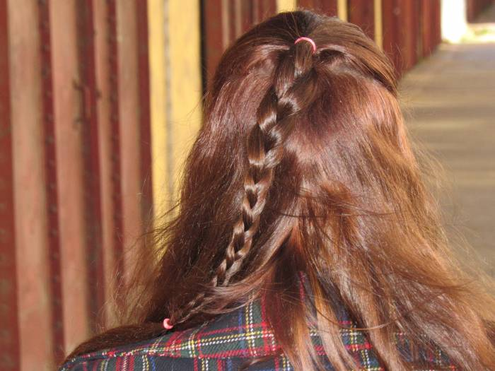 So windy! Another braided hairstyle