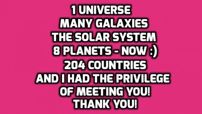 Well, Pluto seems not to be a planet anymore... but true, how amazing is to get to know lovely people! Thank you!