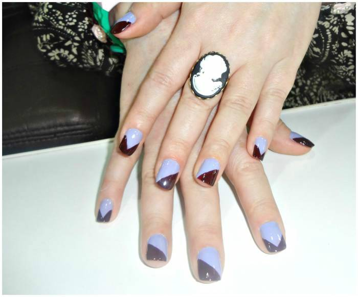 OPI and Dior nail polishes, for a fun design!