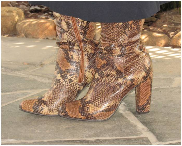 I love these snake print boots!
