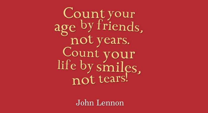 And because it was John Lennon's birthday hyesterday (Oct 9th, 1940), I'm sharing one of his wise quotes!