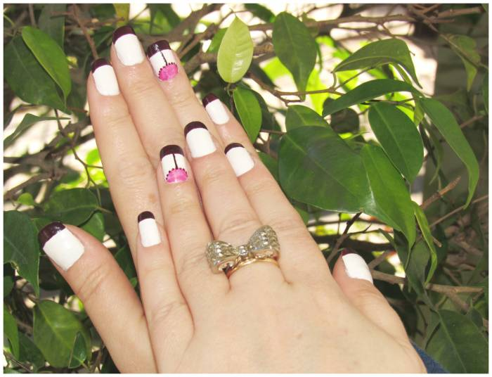 Nail art of the week and bow ring