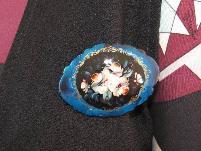Another beloved Russian hand painted brooch