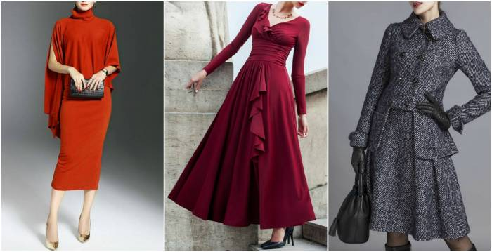 Long Sleeve Midi Evening Dresses