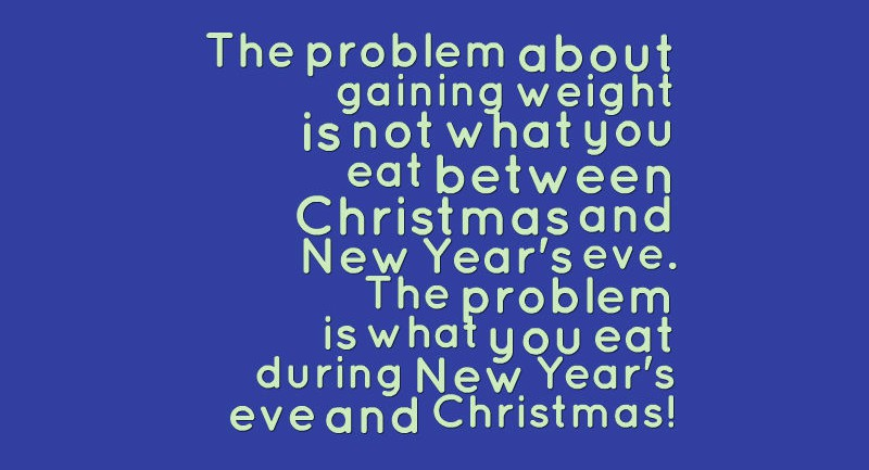 Gaining weight during Christmas