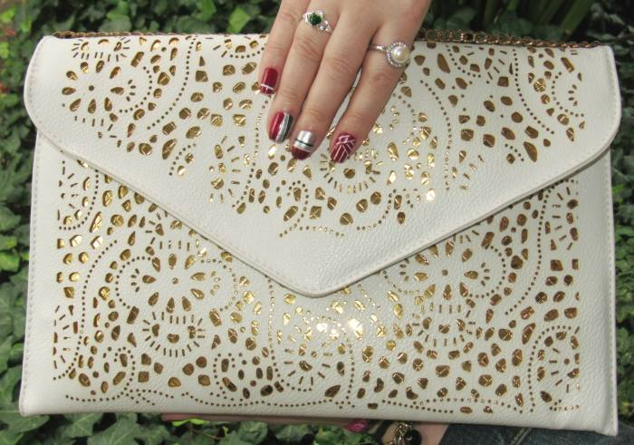 Laser cut-out bag/clutch