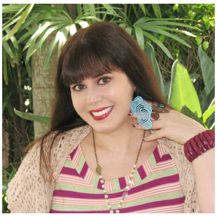 Burgundy bracelet and blue cloud earrings, Manoa