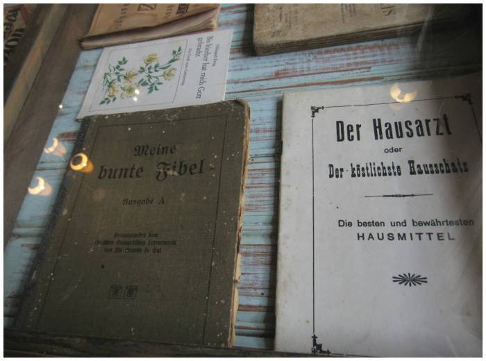 Old German books inside another table