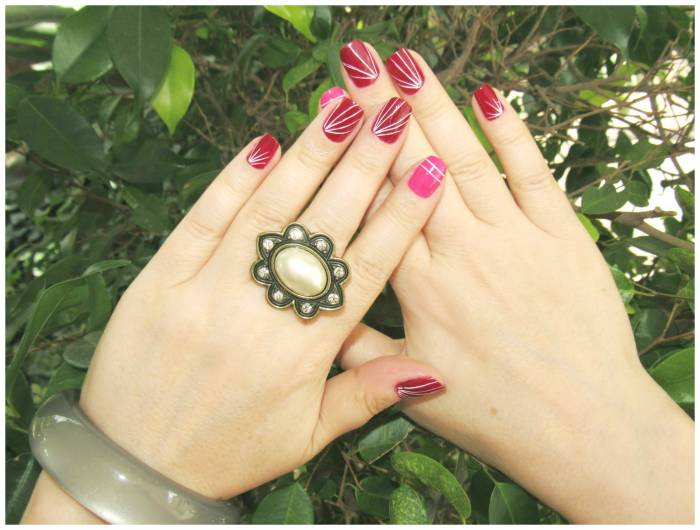 Nail art of the week with Amaro ring