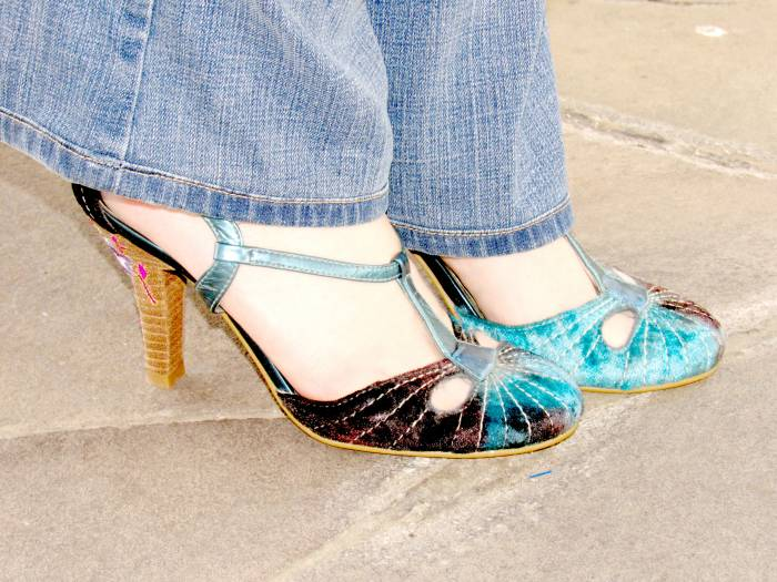 Velvet and metallic shoes, Tack Hannover